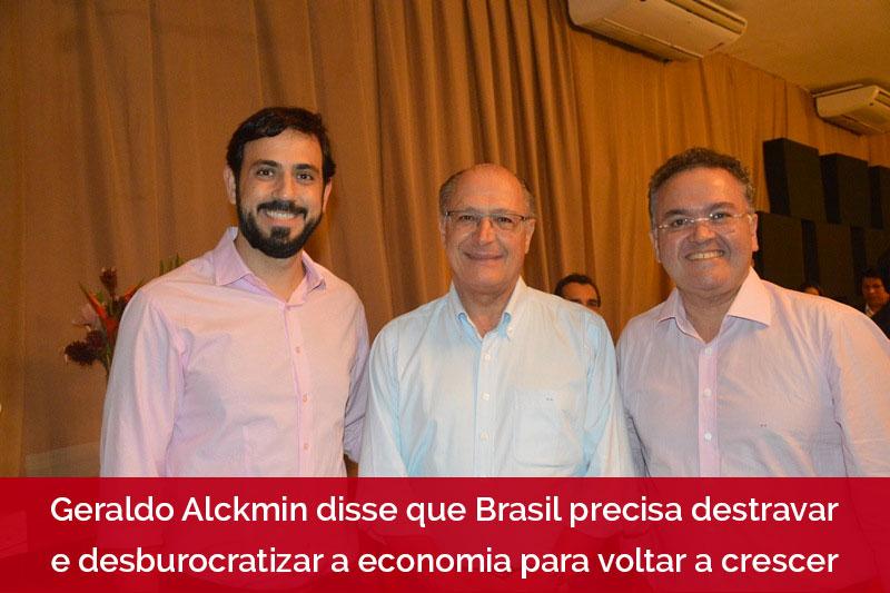 Felipe Mussalém, presidente da ACM e Geraldo Alckimin